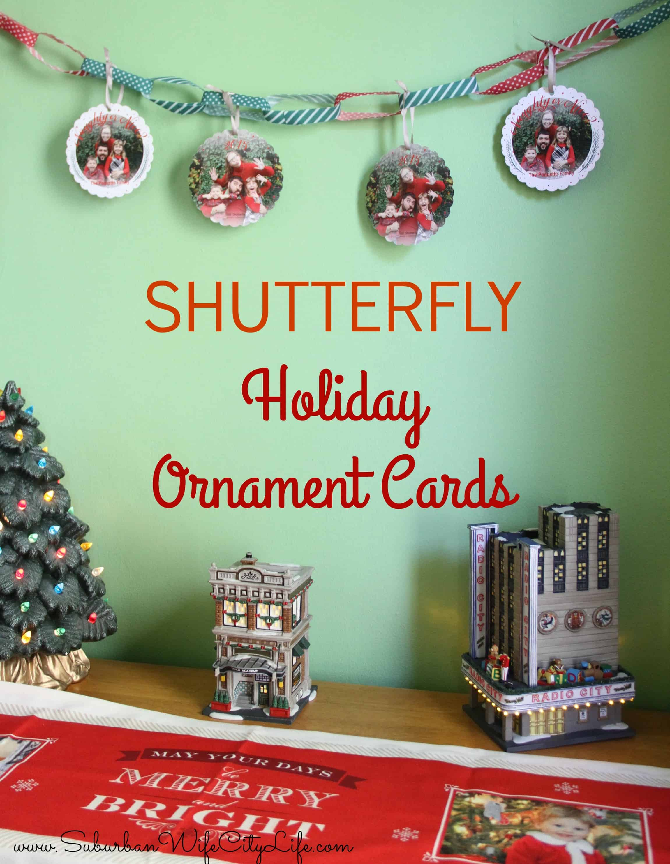 Holiday Ornament Cards from Shutterfly - Suburban Wife, City Life