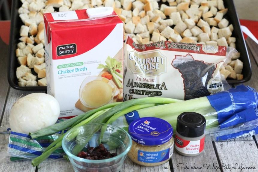 Wild Rice Stuffing Ingredients