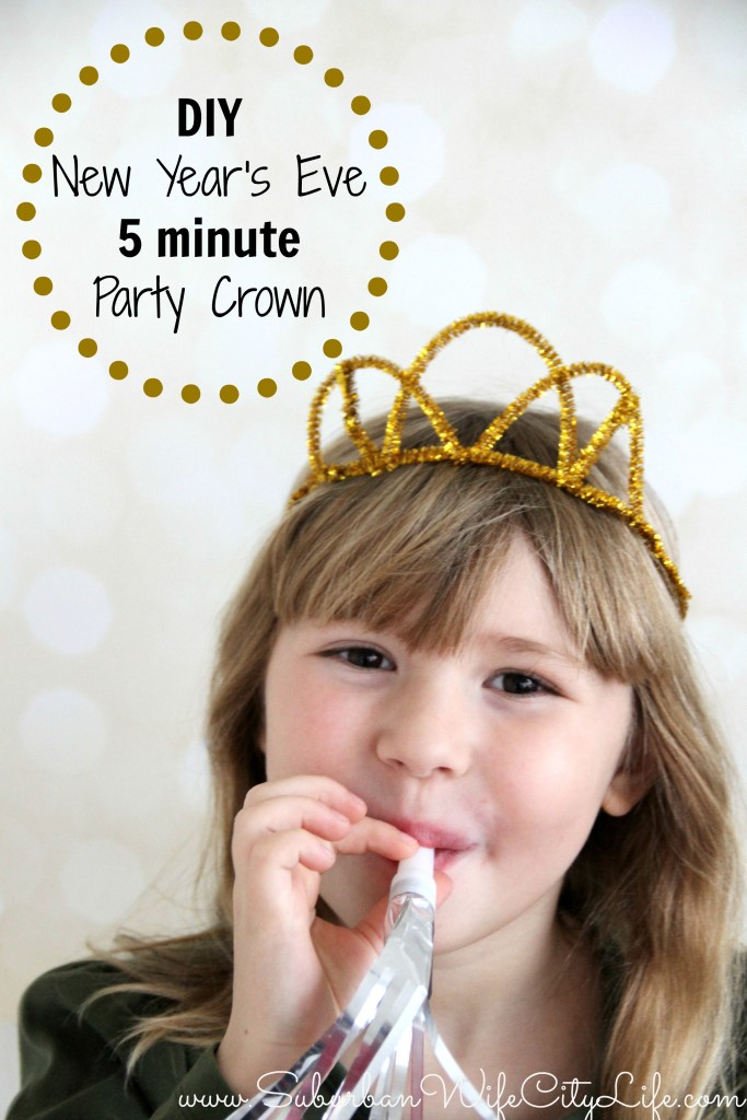 DIY New Year's Eve 5 minute Party Crown