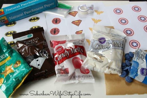 Chocolate Superhero Symbol Supplies