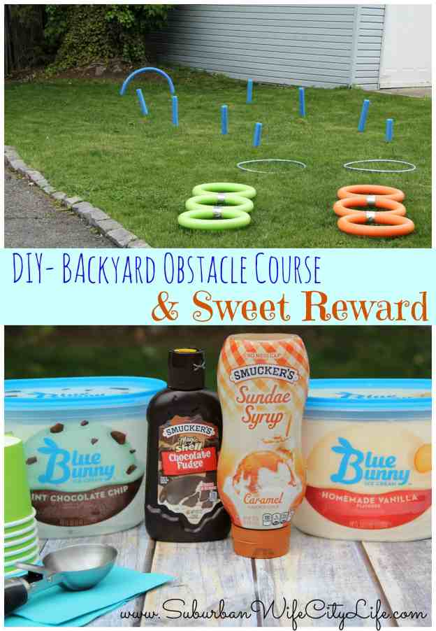 Backyard Obstacle Course and Sweet Reward
