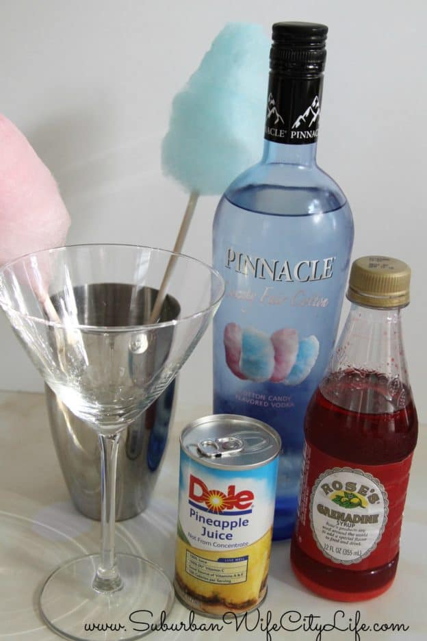 Cotton Candy Martini supplies