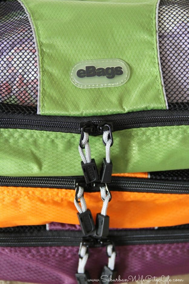 eBags Packing cubes zippers
