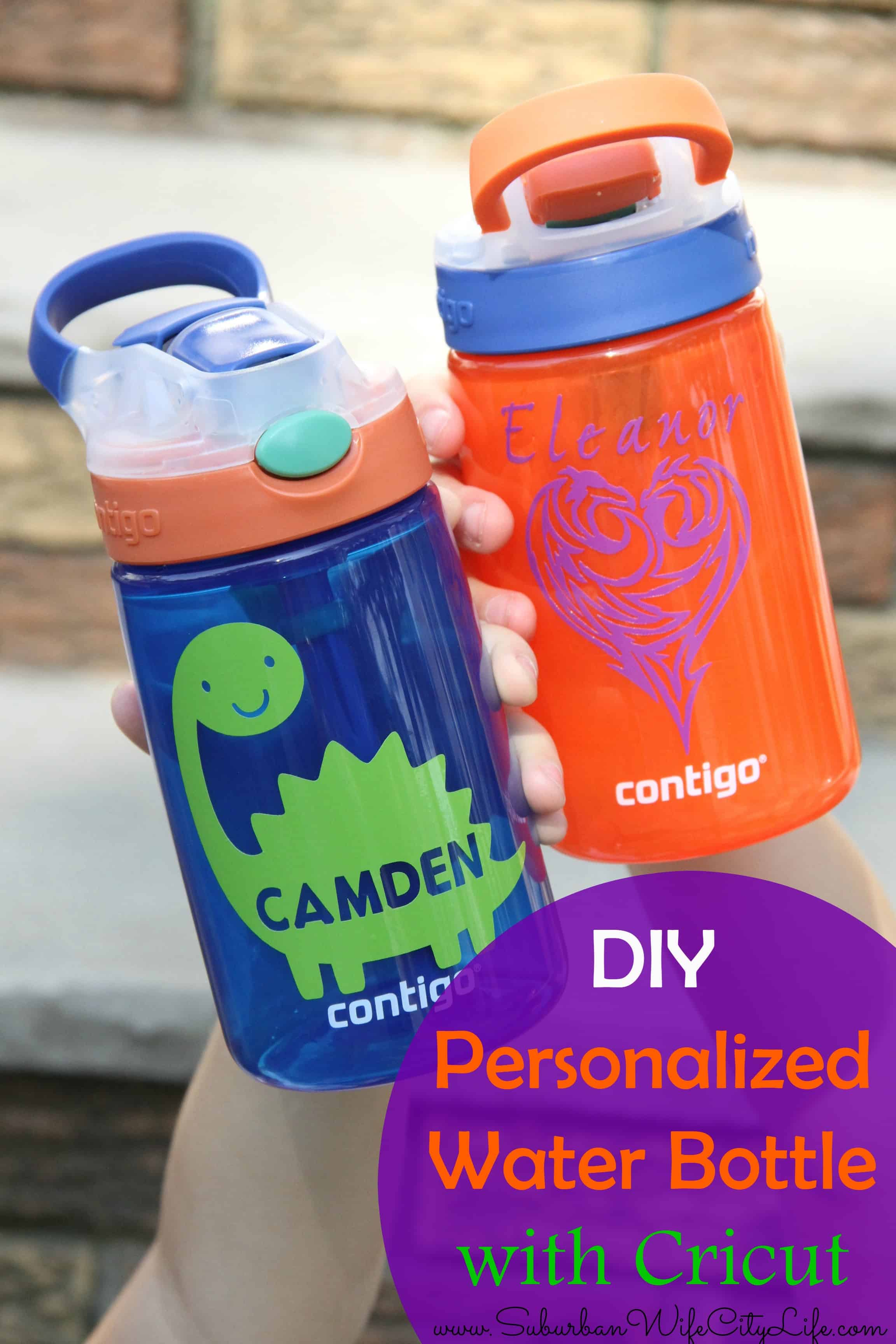diy personalized water bottles with cricut suburban wife city life