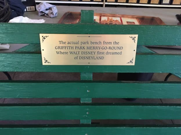 Griffith Park Merry-Go-Round Disney Park Bench
