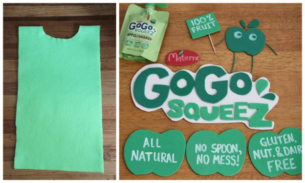 GoGo Squeez Costume Steps