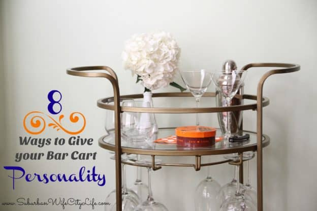 8 Ways to give your bar cart personality