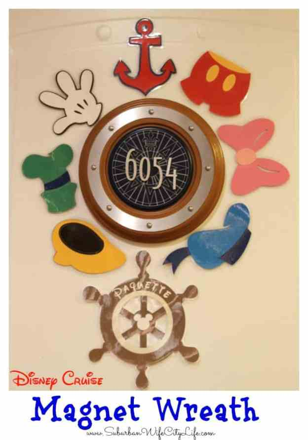 Disney Cruise Magnet Wreath DIY