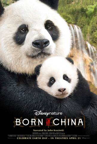 Born in China in theaters April 21st, 2017