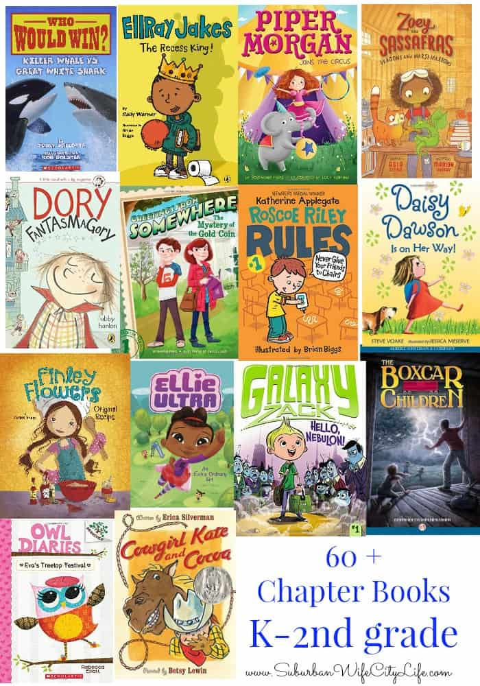 chapter books for k-2nd grade