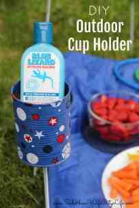 DIY Outdoor Cup Holder