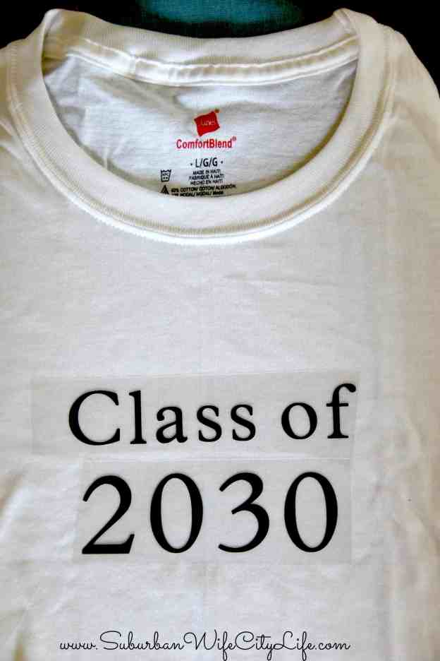 1st day of school photo shirt