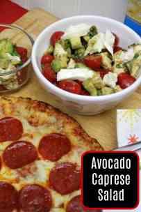 Avocado Caprese Salad #BaronessPatches #ad