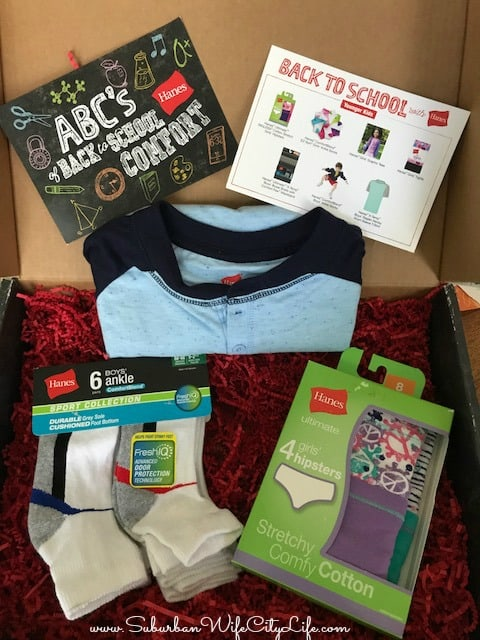 Back to School with Hanes Giveaway