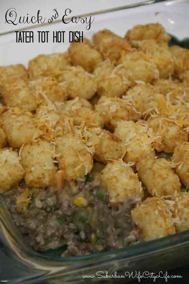 Quick and Easy Tater Tot Hot Dish