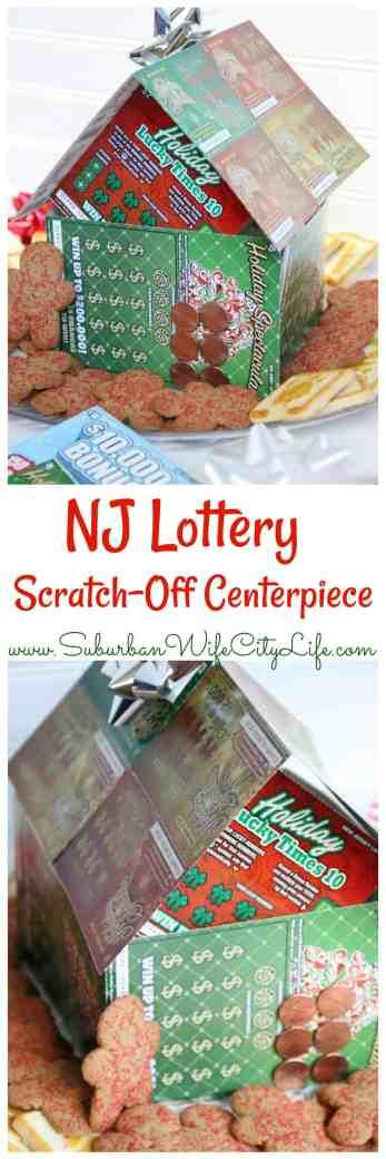 NJ Lottery DIY Scratch Off Centerpiece - Suburban Wife, City Life