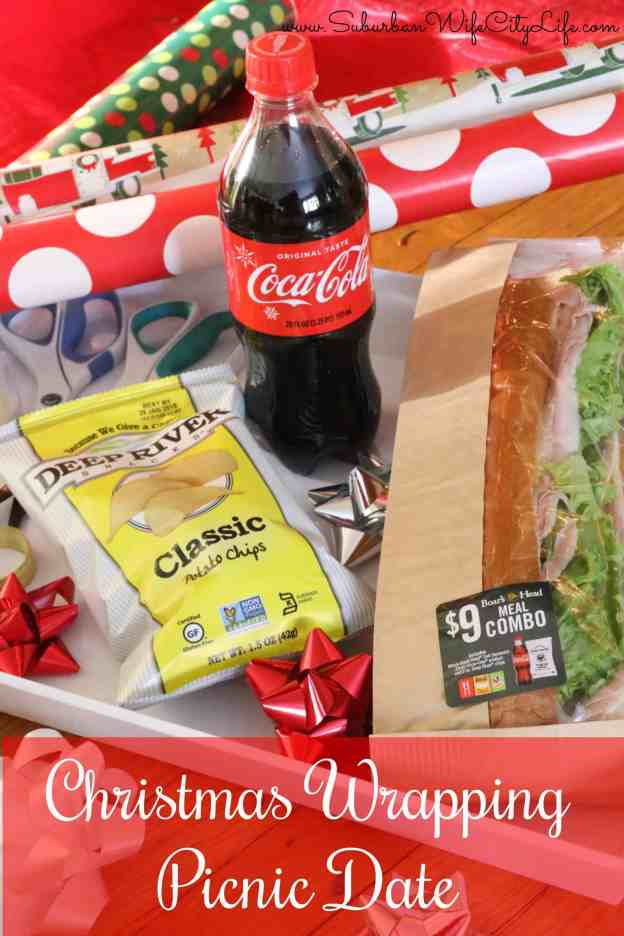 Christmas Wrapping Picnic Date #ServeWithACoke