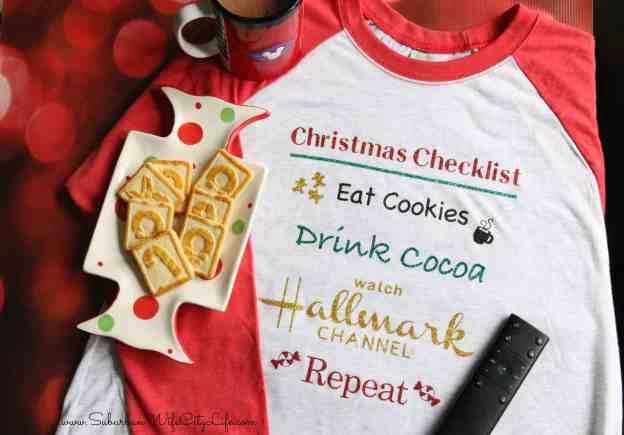 #CricutMade Christmas Checklist Shirt
