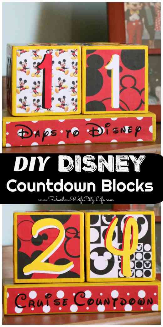 Disney Countdown Blocks DIY