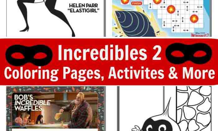 Incredibles 2 Coloring Pages, Activities, & More