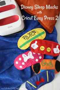Disney Sleep Masks- Cricut Easy Press 2