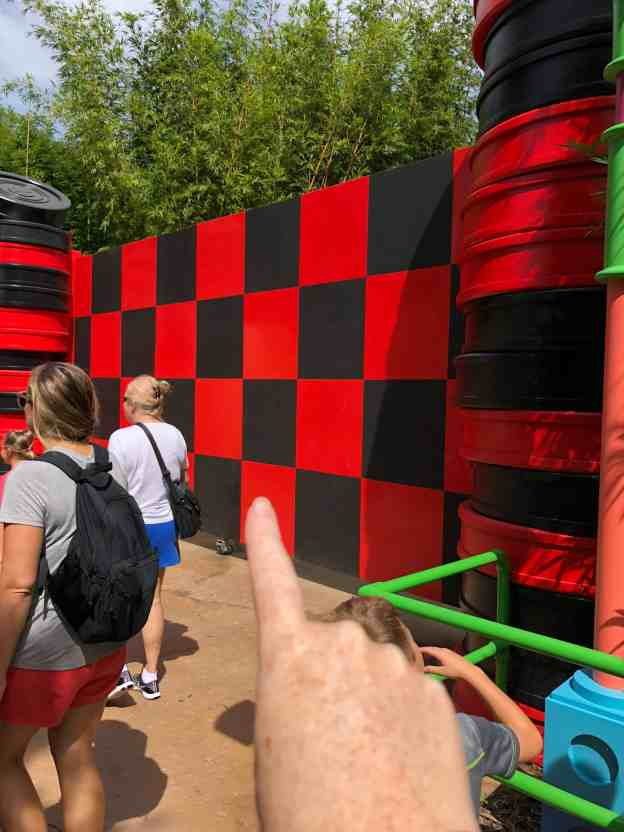 Toy Story Land Checkerboard Wall