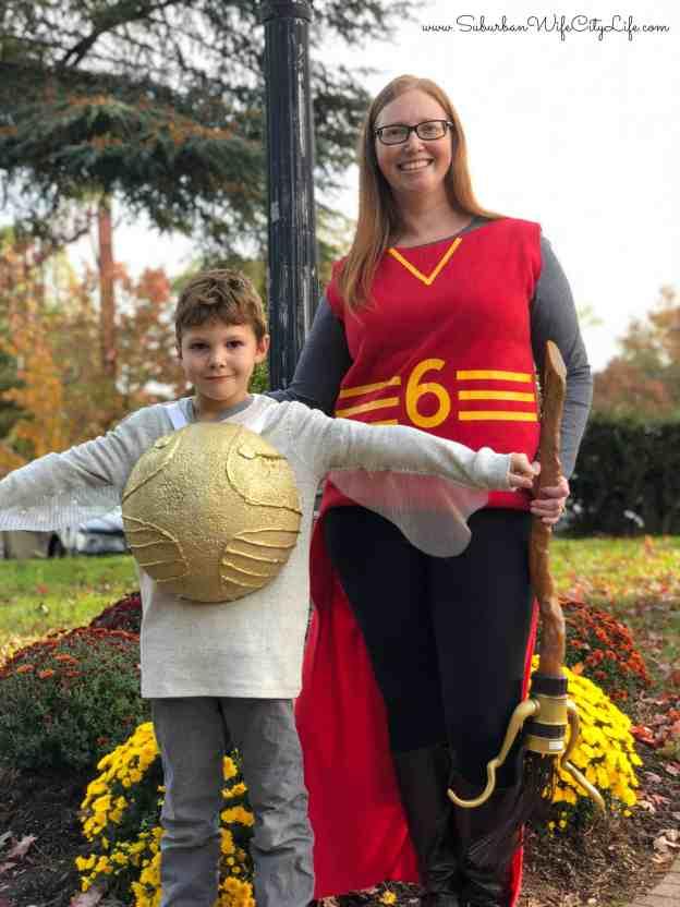 Golden Snitch & Ginny Weasly Quidditch