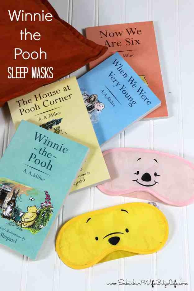 Winnie the Pooh Sleep Masks #CricutMade