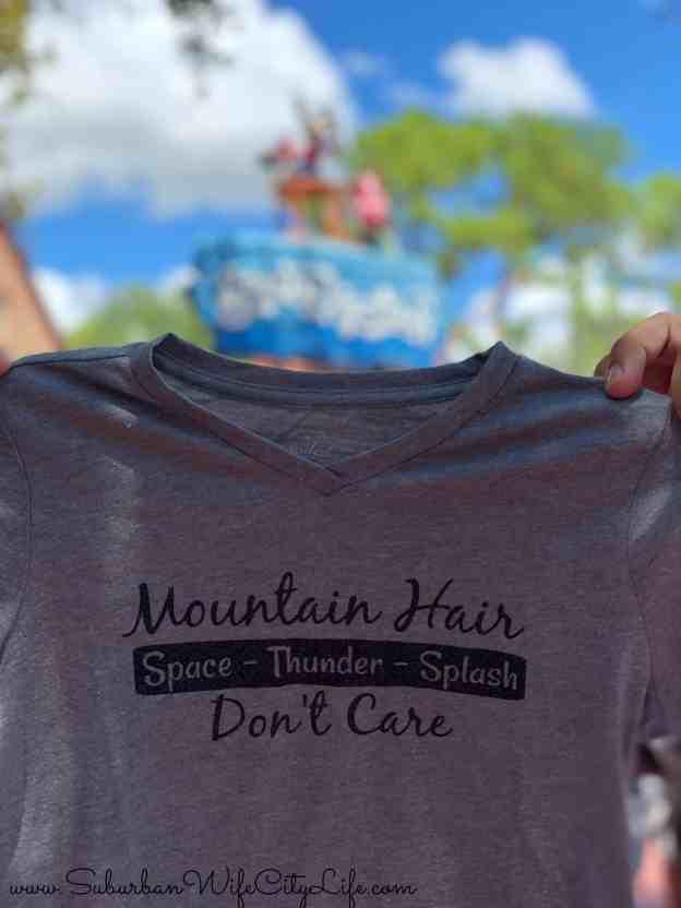 Mountain Hair Don't Care Disney Shirt