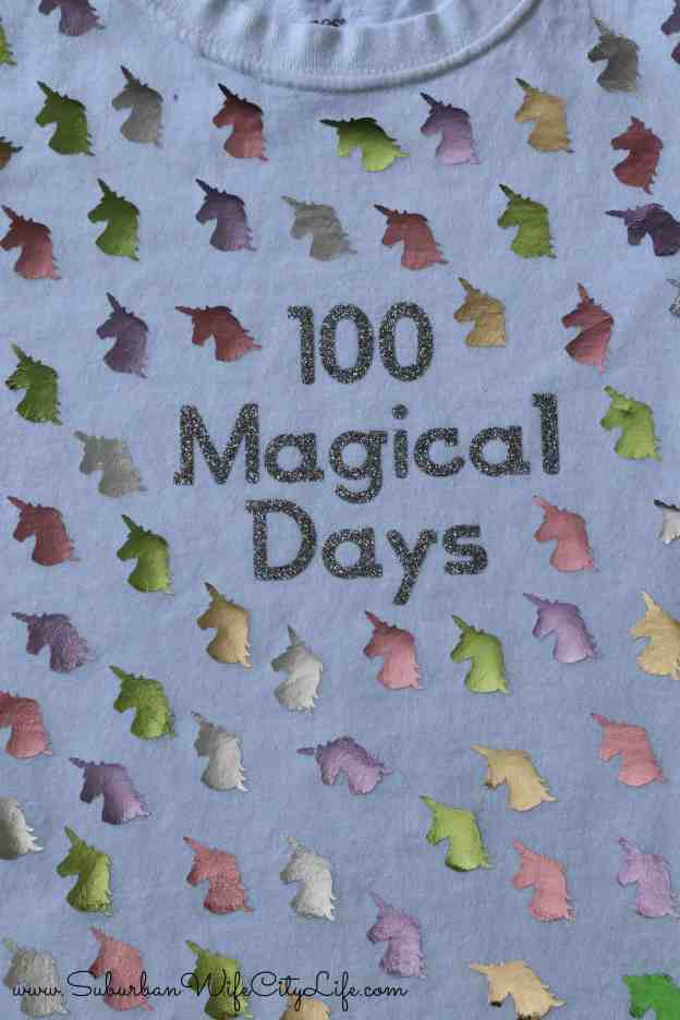 100 Magical Days shirt for th 100th day of school #CricutMade