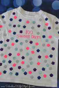 100 Sweet days shirt for the 100th day of school with Cricut #CricutMade