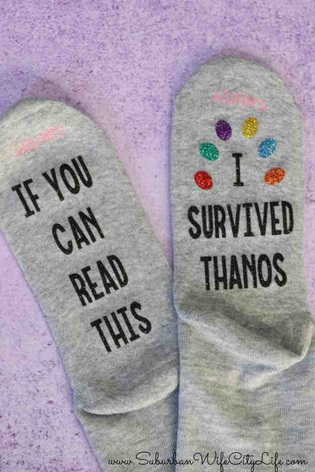 Marvel Socks DIY #CricutMade #CricutMaker