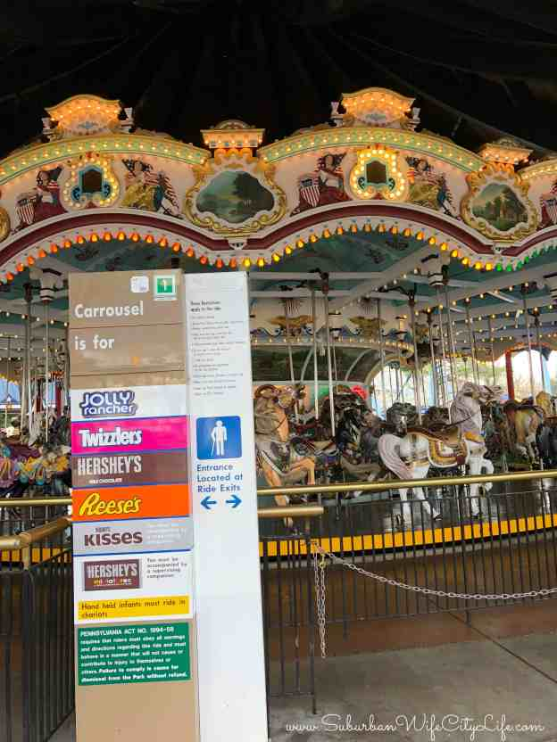 Hersheypark's Carrousel Height requirements