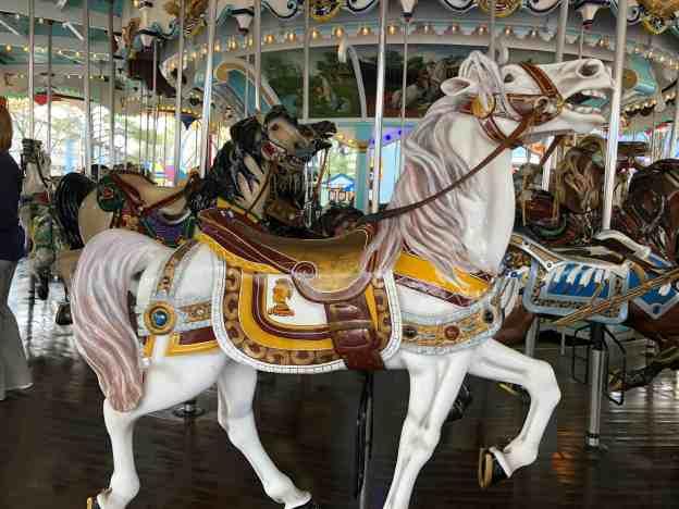 Milton Hershey horse on Hersheypark's Carrousel
