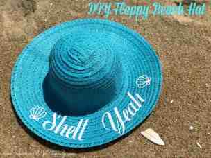 Shell Yeah DIY beach hat with Cricut
