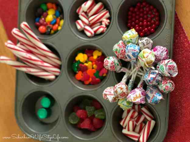 Tips for Gingerbread houses (organize your candy)