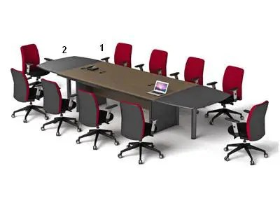 HighPoint Set Meja Meeting Classe Series Noce Calabria