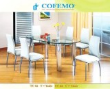 Cofemo Meja 6 Kursi makan type TC 02 CC 02