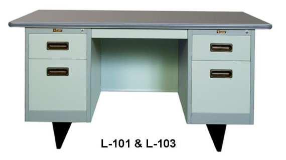 Lion Meja Kantor Besi Berikut Laci type L 101