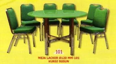 Polaris Meja Lacker mm 101 dan Kursi Susun