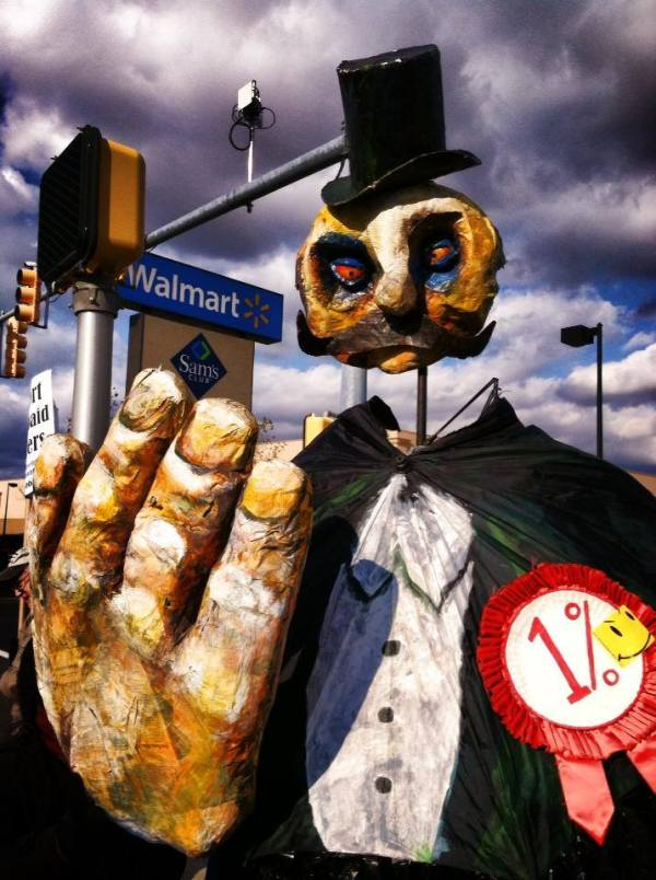 """""""The % at Wal-Mart"""" by the OWS Puppet Guild 