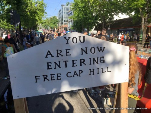 now entering free capital hill
