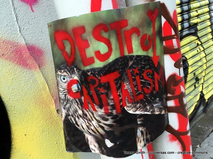 artful Destroy capitalism sign at Capitol Hill autonomous zone