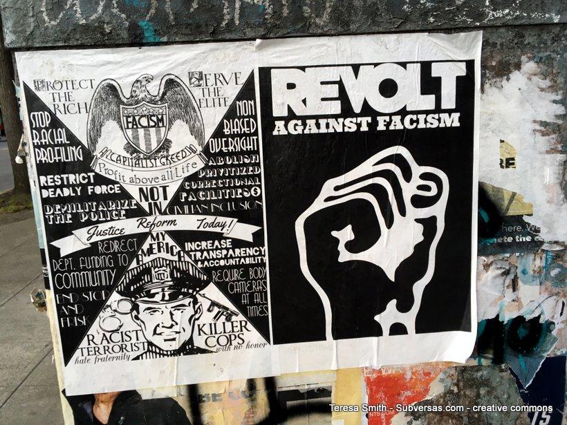 anti-fascist poster at CHAZ