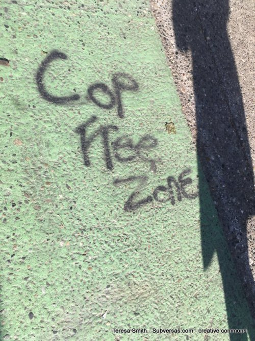 Cop free zone graffiti
