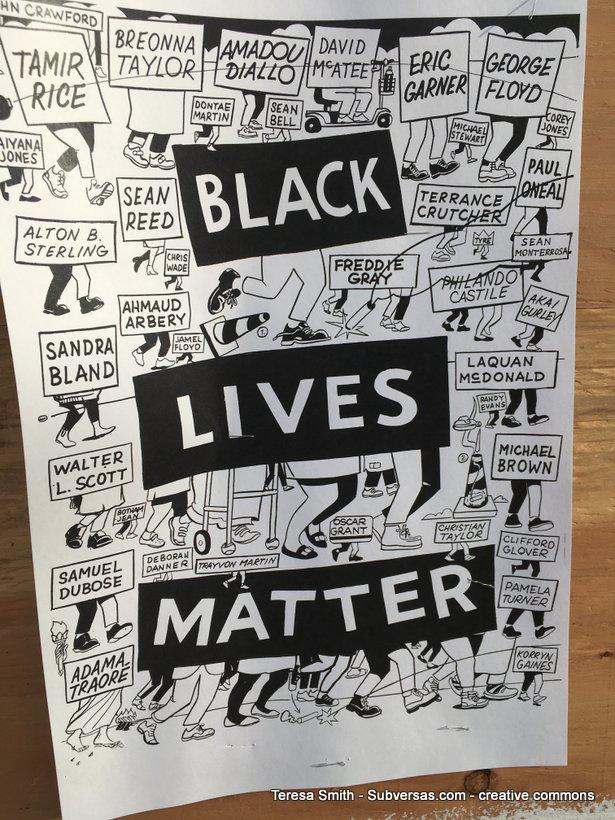 black lives matter wheatpaste, Capitol Hill autonomous zone