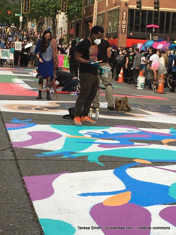 Black Lives Matter muralist, CHAZ