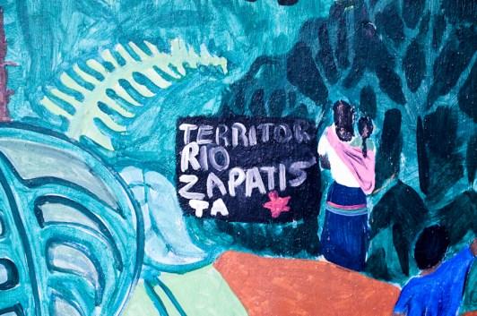 Mural de los niños del Caracol La Garrucha / Por Sari Dennise