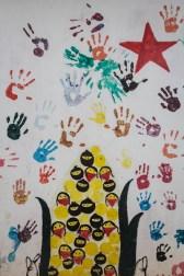 Mural de los niños del Caracol La Garrucha / Por Heriberto Paredes