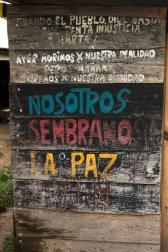 Nosotros sembramos la paz. La Garrucha / Por Regina López